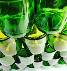 Custom made tumblers @kensingtonstreetsocial ♻️ #kensingtonstreetsocial#theoldclarehotel#Chippendale#sydney#drink#eat#greenwithenvy#tumblers#handmade#haveadesigns#homeware#ecofriendly#upcycle#recycle#wine#dine